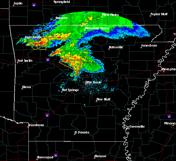 Radar Image for Severe Thunderstorms near Hector, AR at 3/11/2020 7:15 AM CDT