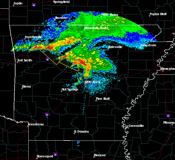 Radar Image for Severe Thunderstorms near Hector, AR at 3/11/2020 7:43 AM CDT