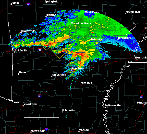 Radar Image for Severe Thunderstorms near Hector, AR at 3/11/2020 8:12 AM CDT