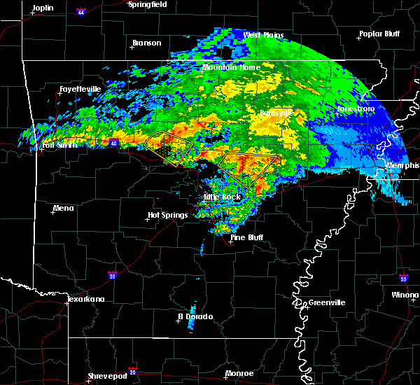 Radar Image for Severe Thunderstorms near Hector, AR at 3/11/2020 8:32 AM CDT