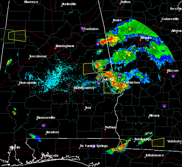 Radar Image for Severe Thunderstorms near Dadeville, AL at 6/24/2015 7:10 PM CDT