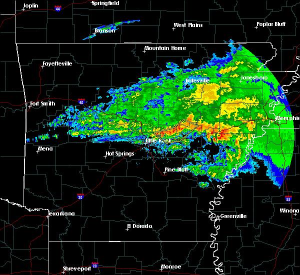 Radar Image for Severe Thunderstorms near Sherwood, AR at 3/11/2020 10:00 AM CDT