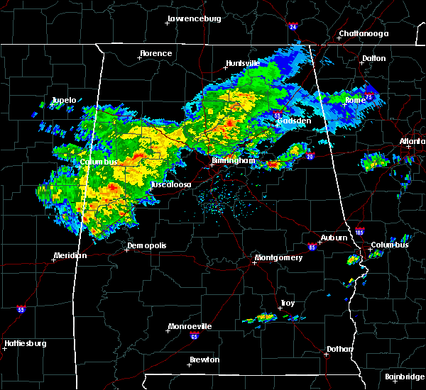 Radar Image for Severe Thunderstorms near Munford, AL at 3/11/2020 3:49 PM CDT