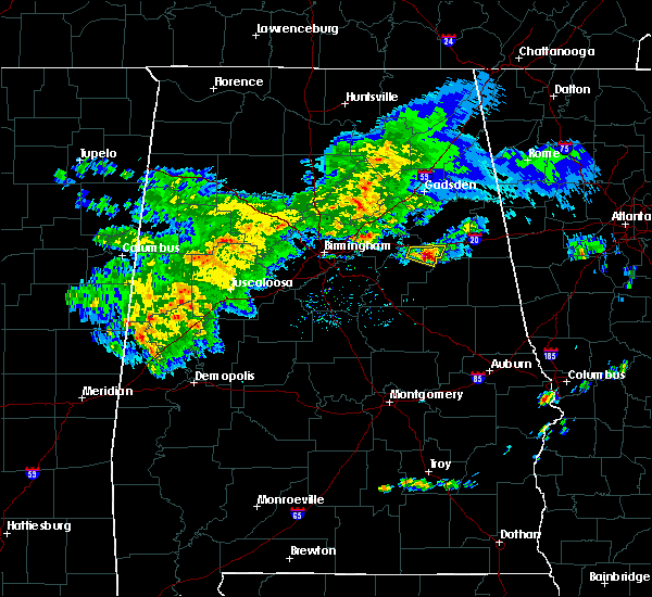 Radar Image for Severe Thunderstorms near Munford, AL at 3/11/2020 4:01 PM CDT