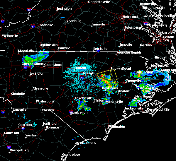 Radar Image for Severe Thunderstorms near Sharpsburg, NC at 3/11/2020 9:04 PM EDT