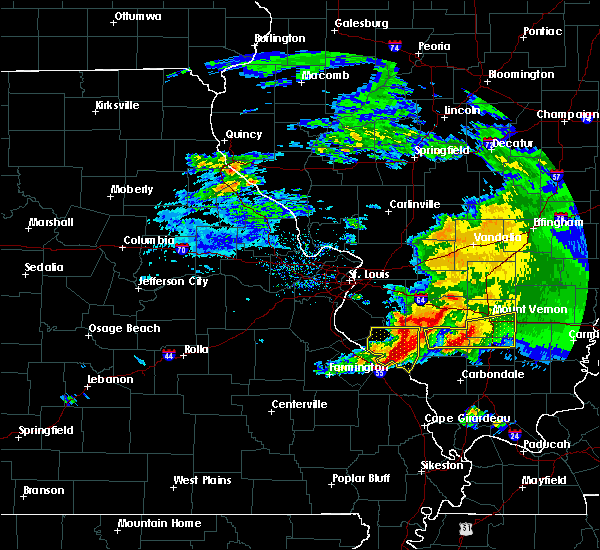 Radar Image for Severe Thunderstorms near Percy, IL at 3/12/2020 1:24 PM CDT