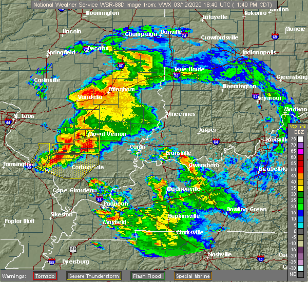 Radar Image for Severe Thunderstorms near Belle Prairie City, IL at 3/12/2020 1:50 PM CDT