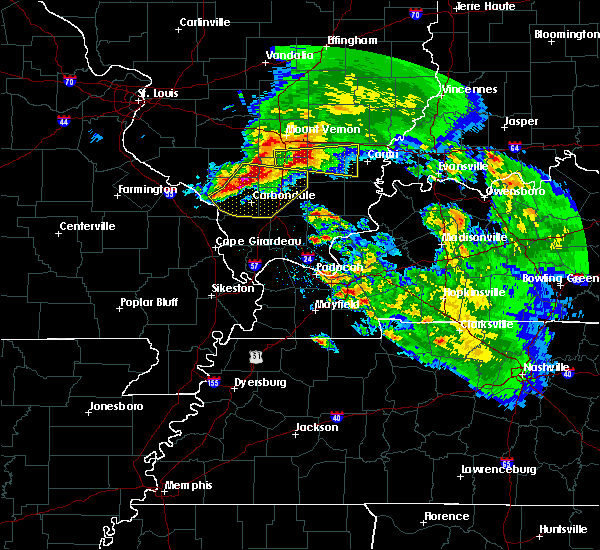 Radar Image for Severe Thunderstorms near Christopher, IL at 3/12/2020 1:57 PM CDT