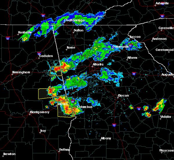 Radar Image for Severe Thunderstorms near Ranburne, AL at 6/24/2015 7:17 PM CDT