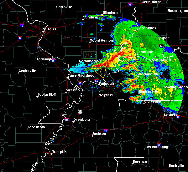 Radar Image for Severe Thunderstorms near Harrisburg, IL at 3/12/2020 3:00 PM CDT