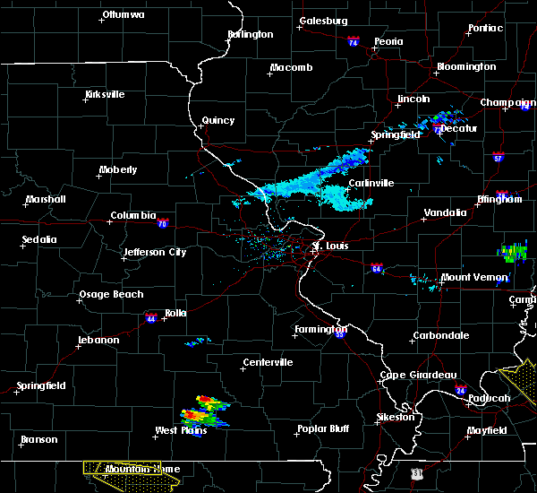 Radar Image for Severe Thunderstorms near Eminence, MO at 3/12/2020 4:12 PM CDT