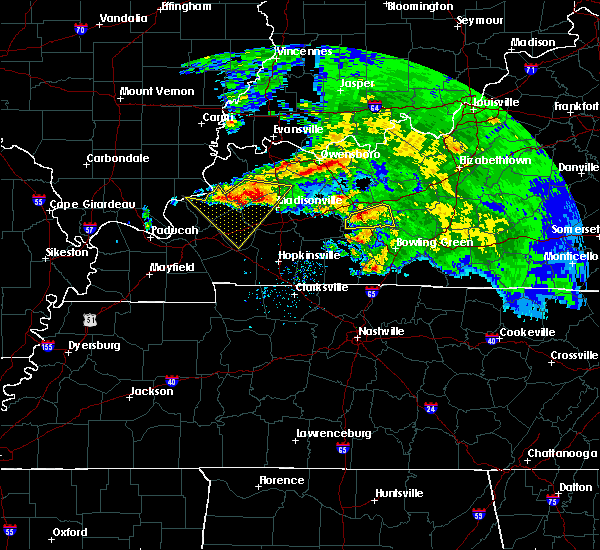 Radar Image for Severe Thunderstorms near Greenville, KY at 3/12/2020 4:13 PM CDT