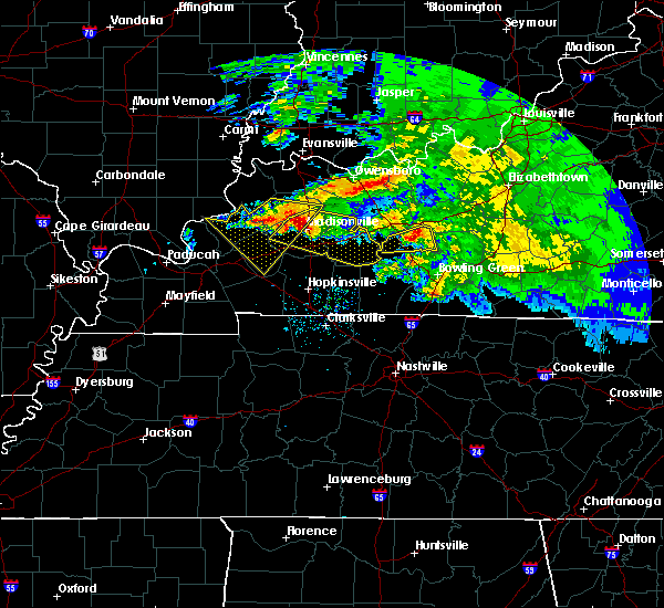 Radar Image for Severe Thunderstorms near Greenville, KY at 3/12/2020 4:29 PM CDT