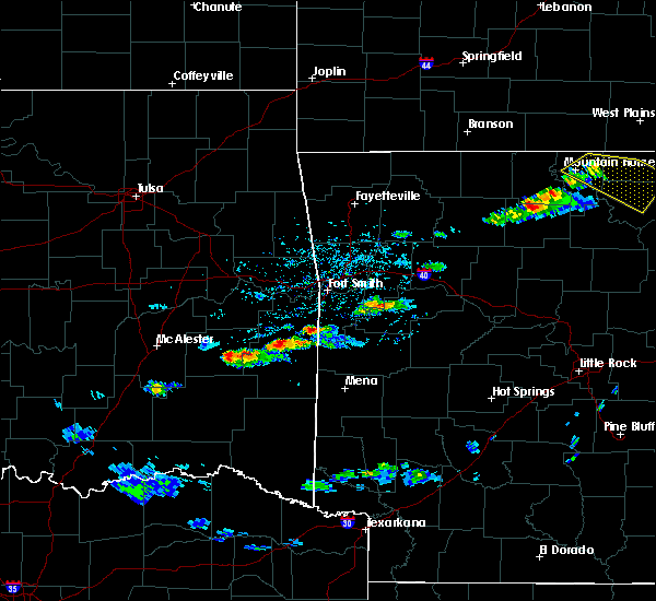 Radar Image for Severe Thunderstorms near Midland, AR at 3/12/2020 4:35 PM CDT