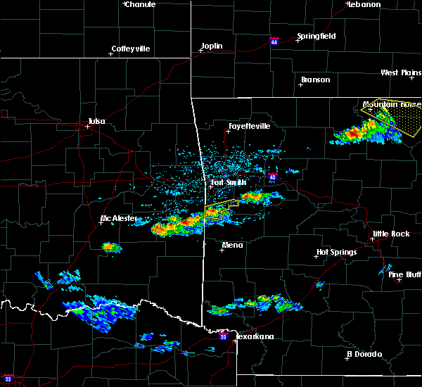 Radar Image for Severe Thunderstorms near Midland, AR at 3/12/2020 4:47 PM CDT