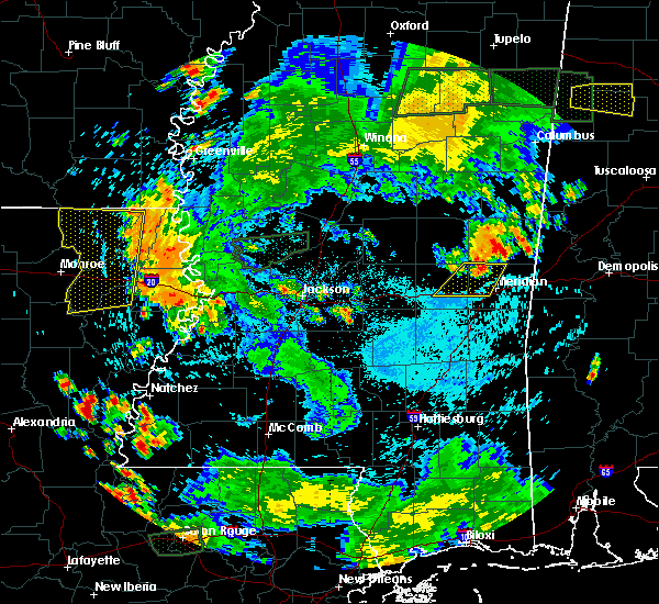 Radar Image for Severe Thunderstorms near Newton, MS at 6/24/2015 7:20 PM CDT
