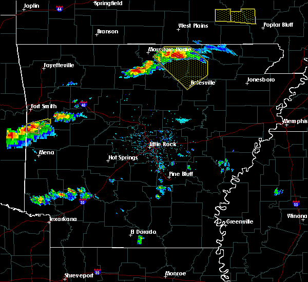 Radar Image for Severe Thunderstorms near Melbourne, AR at 3/12/2020 4:49 PM CDT