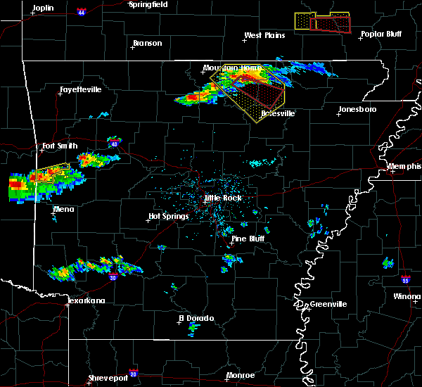 Radar Image for Severe Thunderstorms near Melbourne, AR at 3/12/2020 4:55 PM CDT