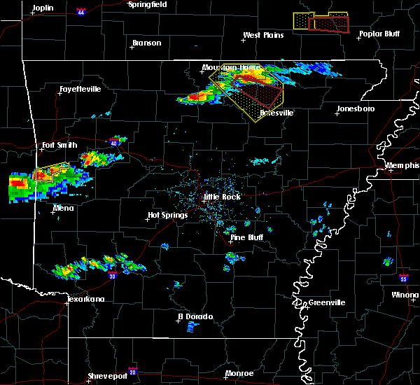 Radar Image for Severe Thunderstorms near Melbourne, AR at 3/12/2020 5:06 PM CDT