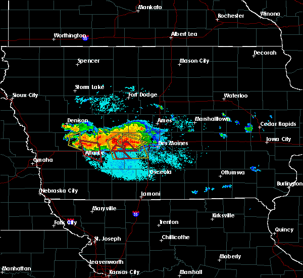 Radar Image for Severe Thunderstorms near Menlo, IA at 6/24/2015 7:24 PM CDT