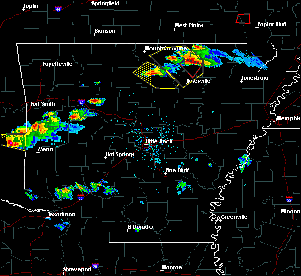 Radar Image for Severe Thunderstorms near Melbourne, AR at 3/12/2020 5:19 PM CDT