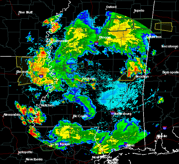 Radar Image for Severe Thunderstorms near Start, LA at 6/24/2015 7:26 PM CDT