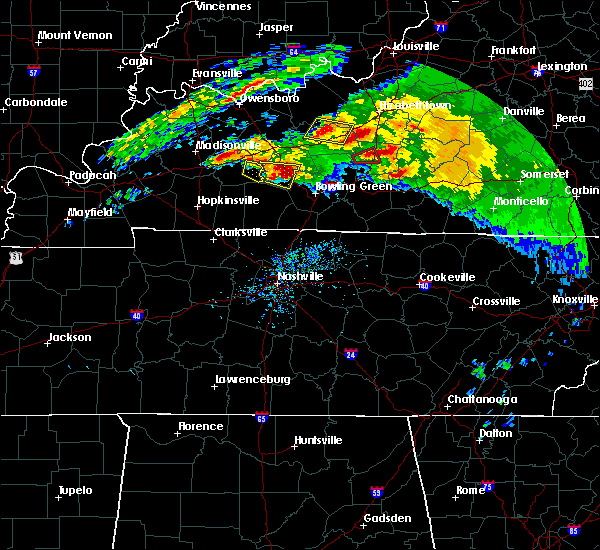 Radar Image for Severe Thunderstorms near Bowling Green, KY at 3/12/2020 5:30 PM CDT