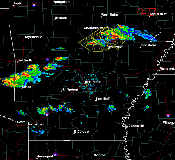 Radar Image for Severe Thunderstorms near Guion, AR at 3/12/2020 5:32 PM CDT