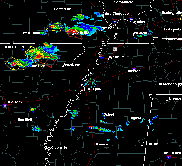 Radar Image for Severe Thunderstorms near Hardy, AR at 3/12/2020 5:39 PM CDT