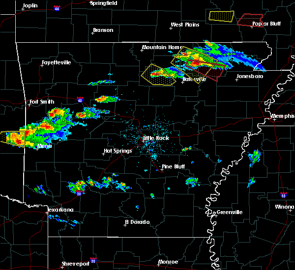 Radar Image for Severe Thunderstorms near Guion, AR at 3/12/2020 5:45 PM CDT