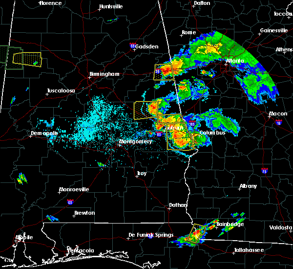 Radar Image for Severe Thunderstorms near Opelika, AL at 6/24/2015 7:29 PM CDT