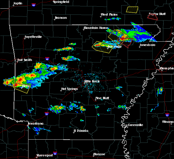 Radar Image for Severe Thunderstorms near Guion, AR at 3/12/2020 5:55 PM CDT
