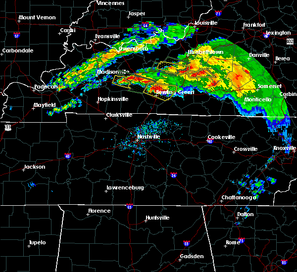 Radar Image for Severe Thunderstorms near Bowling Green, KY at 3/12/2020 5:57 PM CDT
