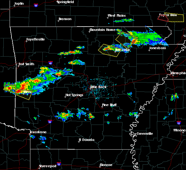 Radar Image for Severe Thunderstorms near Guion, AR at 3/12/2020 6:02 PM CDT