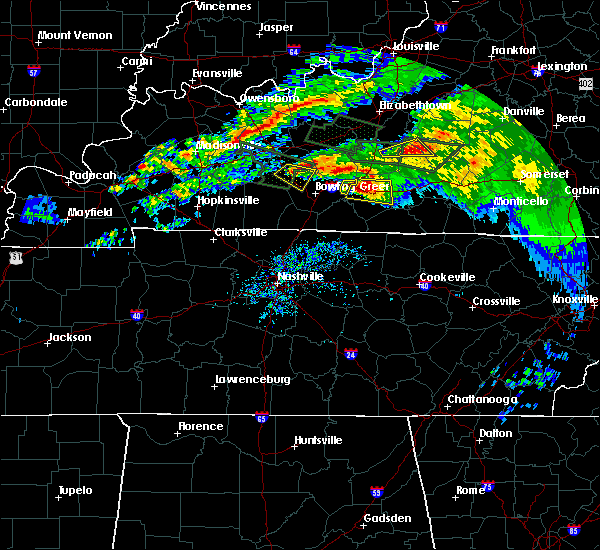 Radar Image for Severe Thunderstorms near Smiths Grove, KY at 3/12/2020 6:21 PM CDT