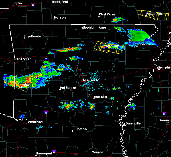 Radar Image for Severe Thunderstorms near Jacksonport, AR at 3/12/2020 6:26 PM CDT