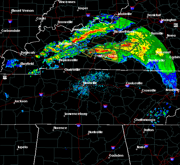 Radar Image for Severe Thunderstorms near Bowling Green, KY at 3/12/2020 6:27 PM CDT