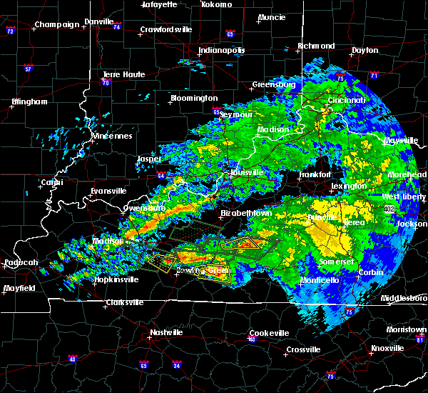 Radar Image for Severe Thunderstorms near Campbellsville, KY at 3/12/2020 7:30 PM EDT