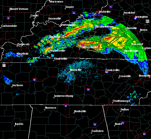 Radar Image for Severe Thunderstorms near Glasgow, KY at 3/12/2020 6:37 PM CDT