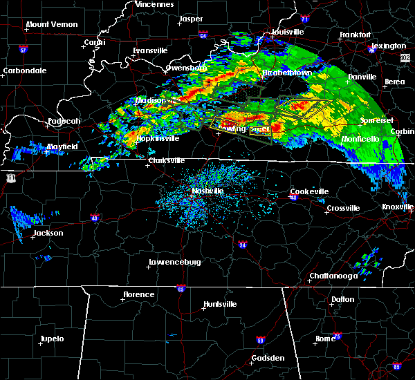 Radar Image for Severe Thunderstorms near Bowling Green, KY at 3/12/2020 6:40 PM CDT