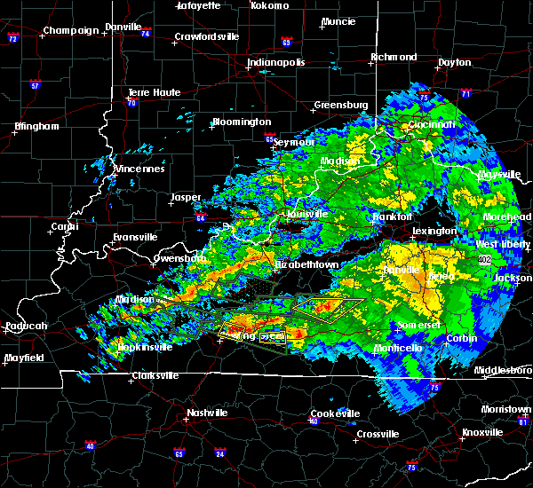 Radar Image for Severe Thunderstorms near Campbellsville, KY at 3/12/2020 7:50 PM EDT