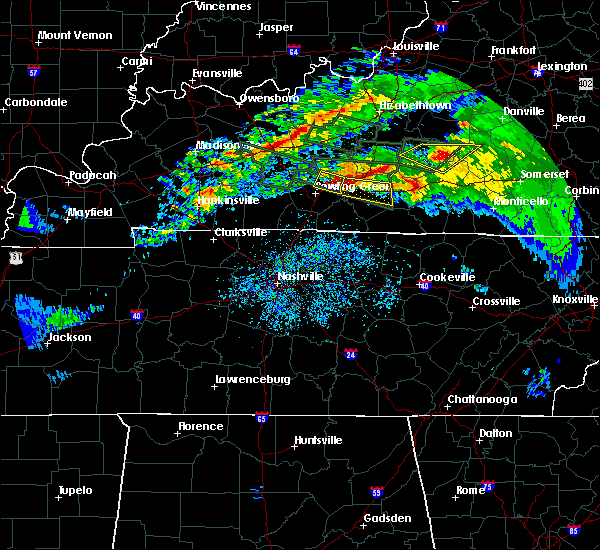 Radar Image for Severe Thunderstorms near Glasgow, KY at 3/12/2020 6:49 PM CDT