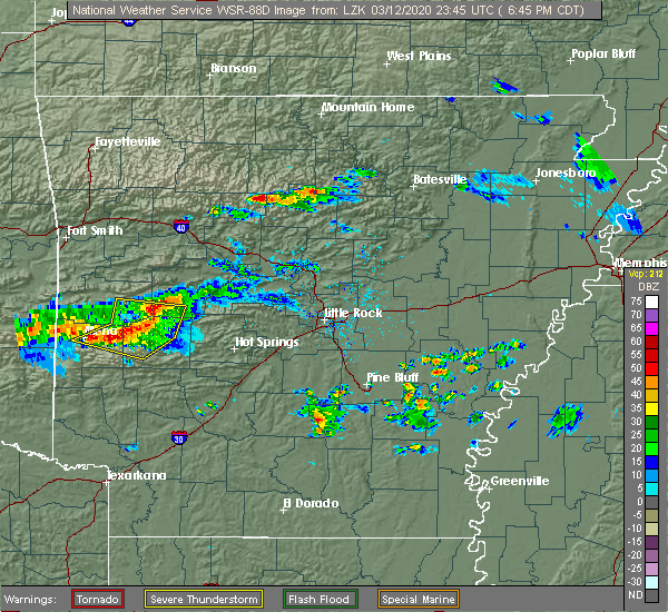 Radar Image for Severe Thunderstorms near Clinton, AR at 3/12/2020 6:51 PM CDT