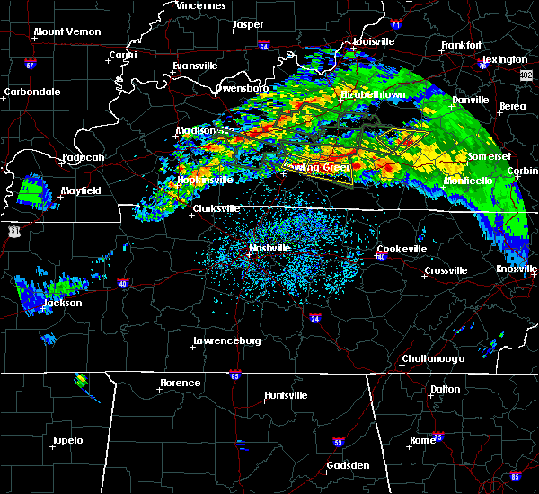 Radar Image for Severe Thunderstorms near Glasgow, KY at 3/12/2020 7:02 PM CDT