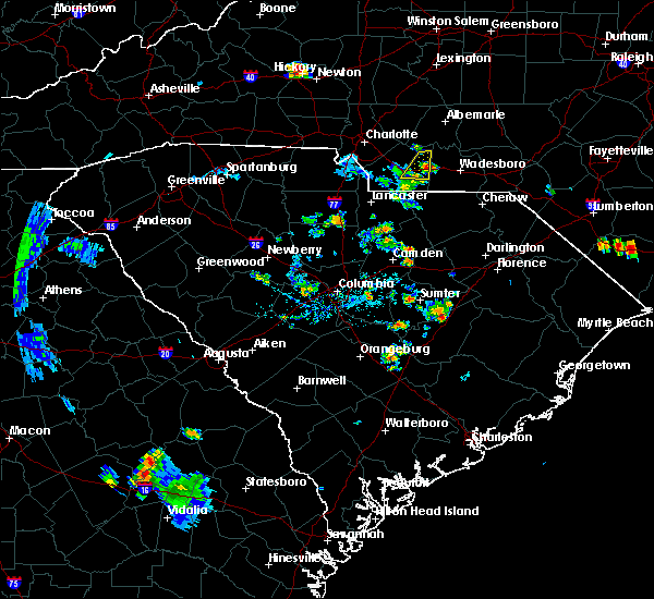 Radar Image for Severe Thunderstorms near Wingate, NC at 6/24/2015 8:33 PM EDT