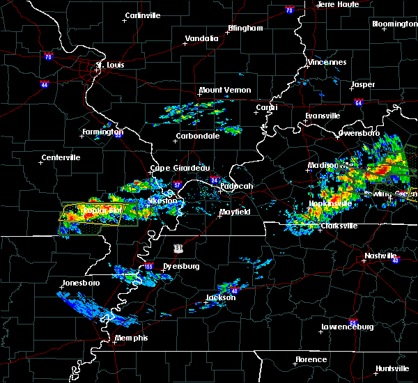 Radar Image for Severe Thunderstorms near Bernie, MO at 3/12/2020 7:09 PM CDT