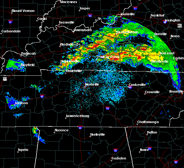 Radar Image for Severe Thunderstorms near Glasgow, KY at 3/12/2020 7:12 PM CDT