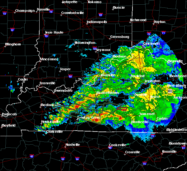 Radar Image for Severe Thunderstorms near Brownsville, KY at 3/12/2020 7:16 PM CDT