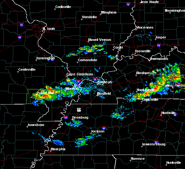 Radar Image for Severe Thunderstorms near Bernie, MO at 3/12/2020 7:24 PM CDT