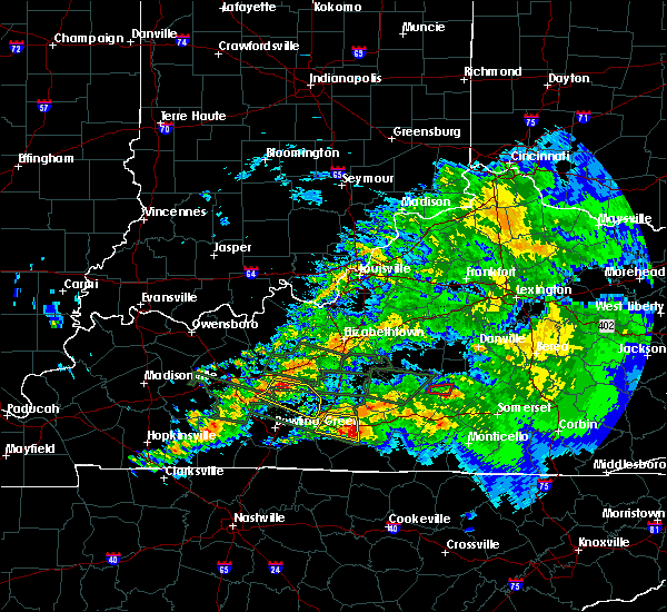 Radar Image for Severe Thunderstorms near Brownsville, KY at 3/12/2020 7:29 PM CDT